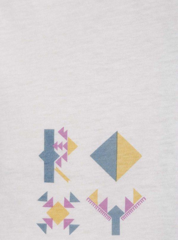 Krémové voľné tričko Roxy Guerrero