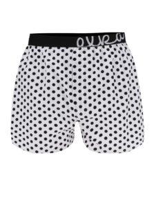 Biele pánske bodkované trenírky El.Ka Underwear