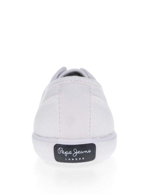 Biele dámske tenisky Pepe Jeans Aberlady Basic