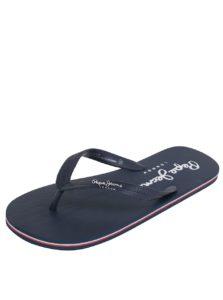 Tmavomodré pánske žabky s nápisom Pepe Jeans Swimming