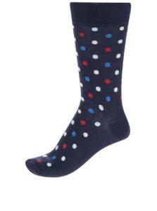 Modré unisex bodkované ponožky Happy Socks Dot