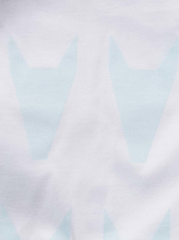 """Dobré"" dámske modro-biele tričko City Souls by Elajediova"