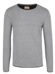 Svetlosivý melírovaný sveter Selected Homme Klop