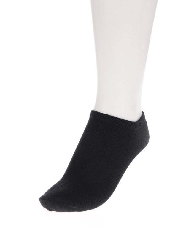 Súprava troch párov členkových ponožiek v bielej, čiernej a sivej farbe ONLY Lulu