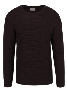 Vínový melírovaný sveter Selected Homme New Vince