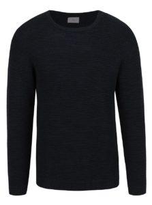 Tmavomodrý melírovaný sveter Selected Homme New Vince