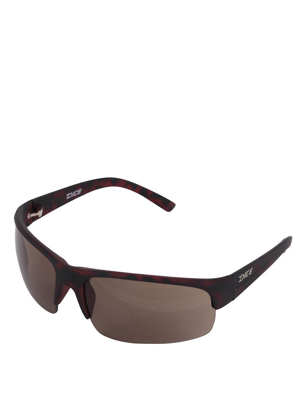 Hnedé vzorované pánske slnečné okuliare Dice  d1882be5023