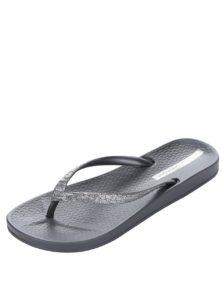 Dámske žabky v sivo-striebornej farbe Ipanema Mesh