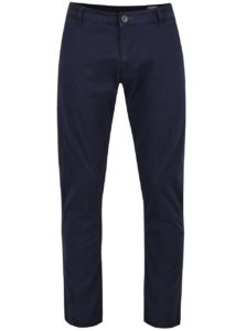 Tmavomodré chino nohavice Selected Homme Three Paris