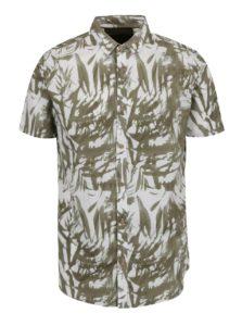 Bielo-zelená vzorovaná košeľa !Solid Hagen