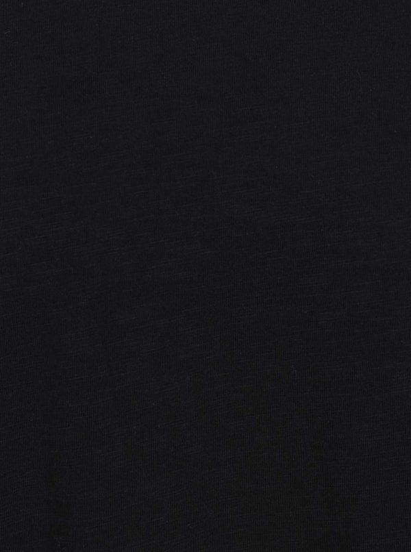 Čierne tričko s okrúhlym výstrihom Shine Original