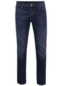 Modré pánske rifle Cross Jeans Tapered