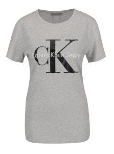 Svetlosivé dámske tričko Calvin Klein Jeans Shrunken