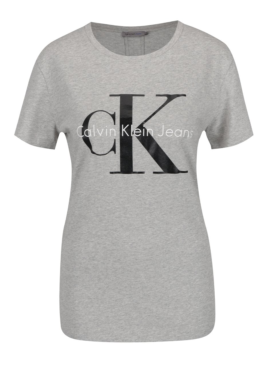a3657fdb3 Svetlosivé dámske tričko Calvin Klein Jeans Shrunken   Moda.sk