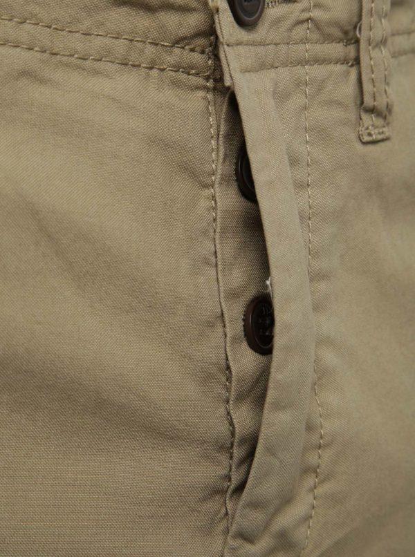 Béžové kraťasy s vreckami Jack & Jones Preston