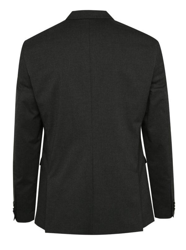 Tmavosivé oblekové slim fit sako Jack & Jones Roy