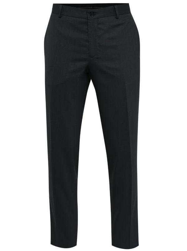 Tmavomodré oblekové nohavice Jack & Jones Wayne