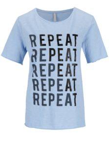 Modré tričko s potlačou YAYA