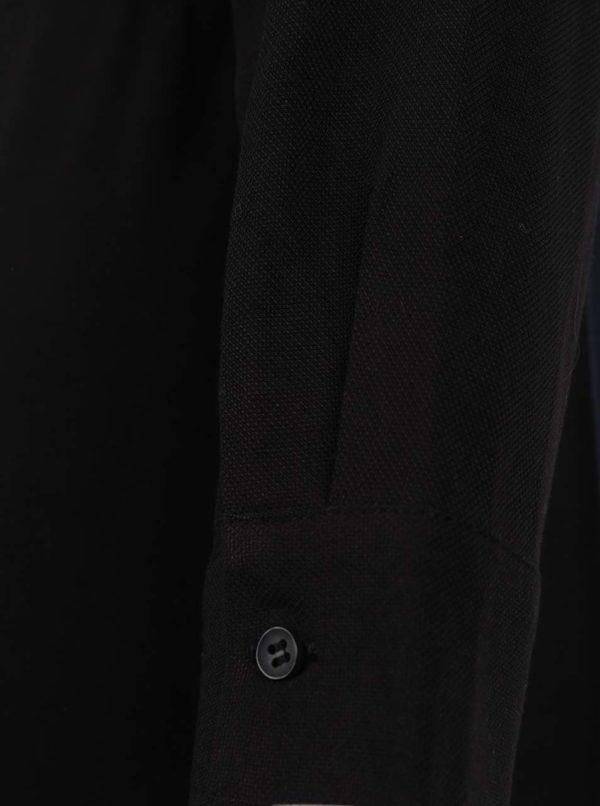 Čierne šaty s dlhým rukávom YAYA
