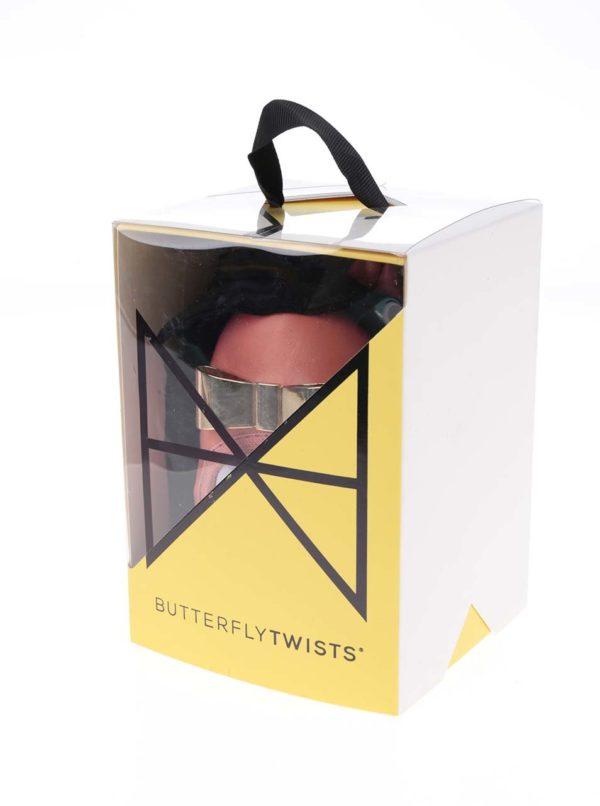 Koralové baleríny s kovovou mašľou do kabelky Butterfly Twists Chloe