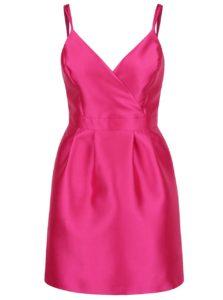 Ružové puzdrové šaty s prekladaným topom Miss Selfridge 9509a0eae79