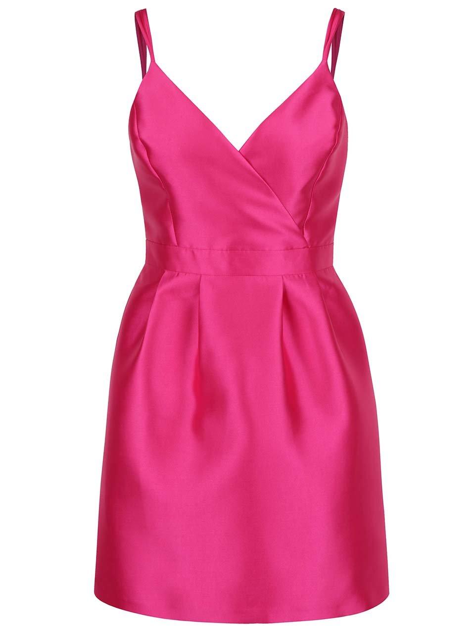 e2b08060a1bb Ružové puzdrové šaty s prekladaným topom Miss Selfridge