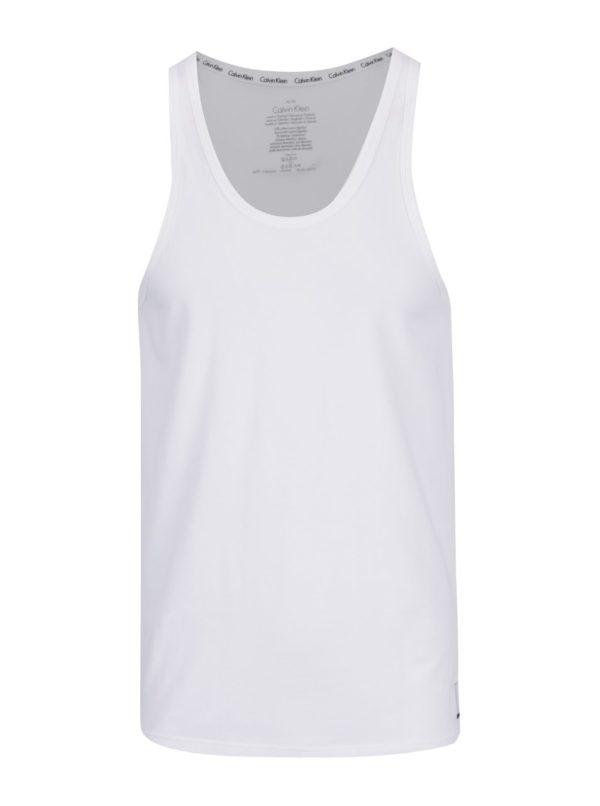Súprava dvoch pánskych tielok v bielej farbe Calvin Klein