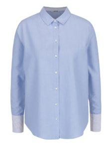 4d9b79d80207 Svetlomodrá košeľa s priesvitným plisovaným chrbtom TALLY WEiJL