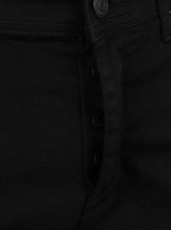Čierne stretch slim nohavice Burton Menswear London