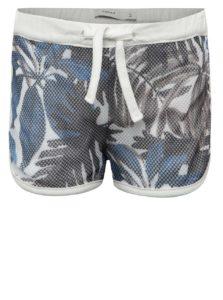 Modro-biele dievčenské kraťasy s tropickou potlačou name it Jamesh