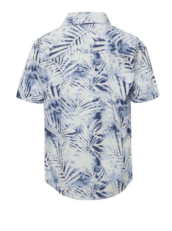 Bielo-modrá chlapčenská košeľa s potlačou name it Jawaii