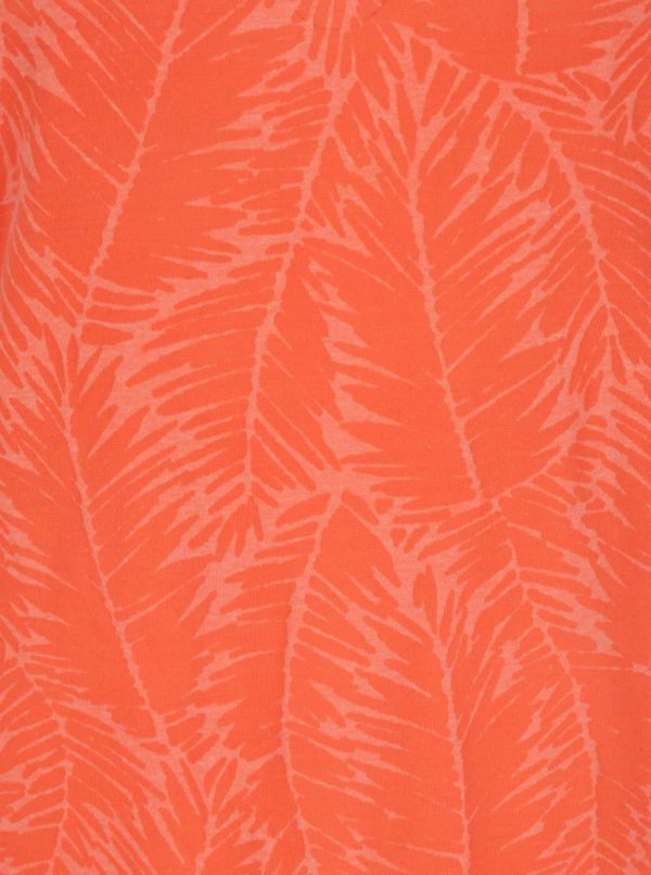 Oranžové dámske vzorované tielko O'Neill