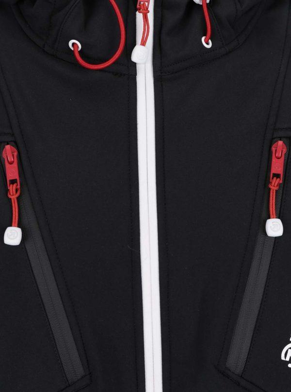 Čierna pánska vodovzdorná softshellová bunda MEATFLY