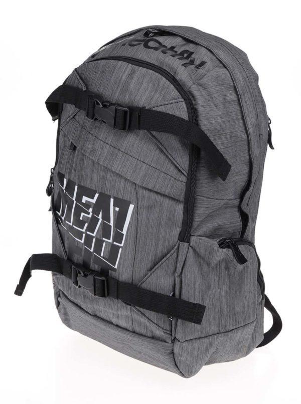 Sivý melírovaný batoh Meatfly Basejumper 20 l