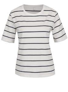 Biele pruhované tričko s krátkym rukávom ONLY Live Love