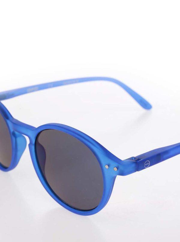 Modré unisex slnečné okuliare so zrkadlovými modrými sklami IZIPIZI #D