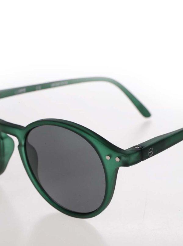 Zelené unisex slnečné okuliare s čiernymi sklami IZIPIZI #D