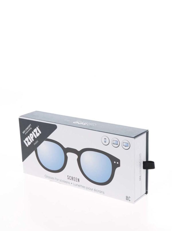 Čierne unisex ochranné okuliare k PC IZIPIZI #C