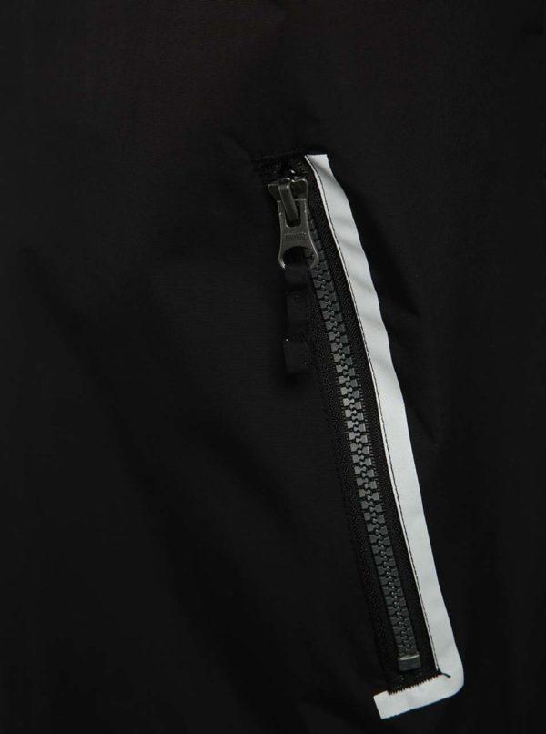 Sivo-čierna pánska tenká bunda s potlačou NUGGET Deploy
