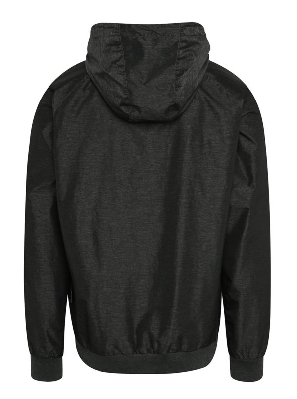 Tmavosivá pánska tenká bunda s kapucňou NUGGET Deploy