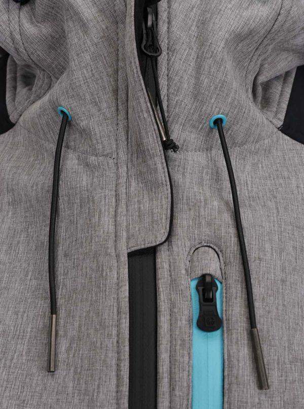 Čierno-sivá dámska softshellová bunda s kapucňou NUGGET Parity
