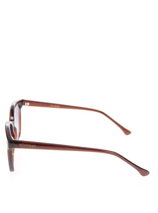 Hnedé slnečné dámske okuliare Komono Renee