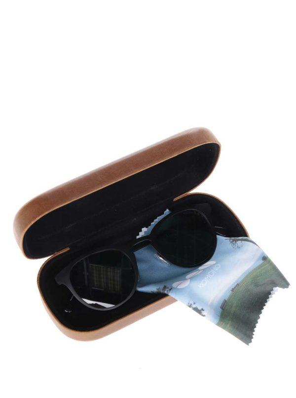 Čierne unisex slnečné okuliare s kovovým rámom Komono Hollis  0def21f369e