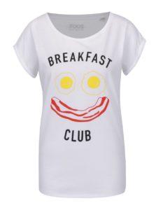 Biele dámske tričko s krátkym rukávom ZOOT Originál Breakfast club