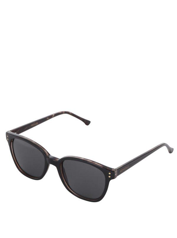 Hnedo-čierne slnečné unisex okuliare Komono Renee