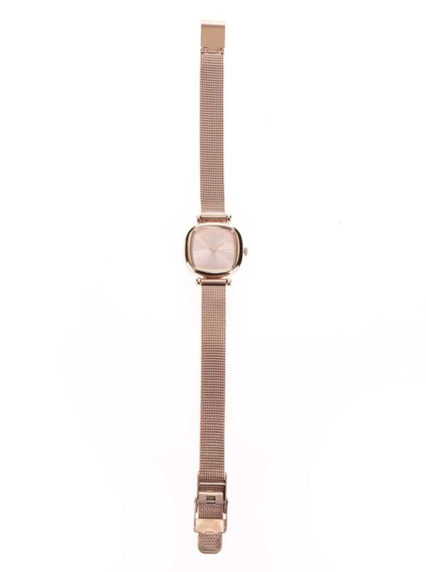 Dámske hodinky v ružovozlatej farbe s nerezovým remienkom Komono Moneypenny Royale Silver