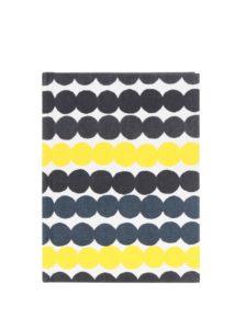 Žlto-čierny zápisník s bodkami Chronicle Marimekko