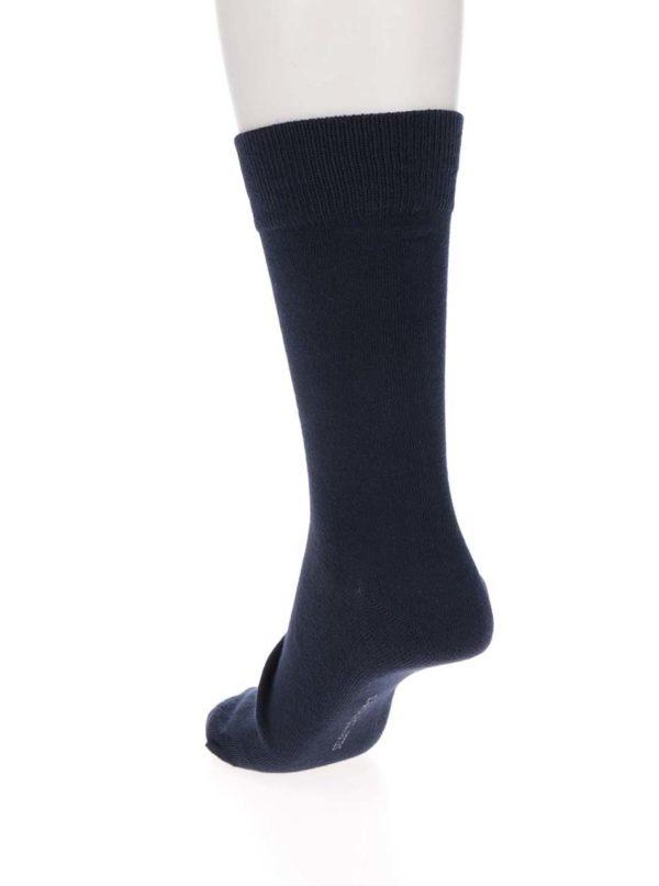 Súprava troch párov ponožiek v tmavomodrej farbe Selected Homme Cotton