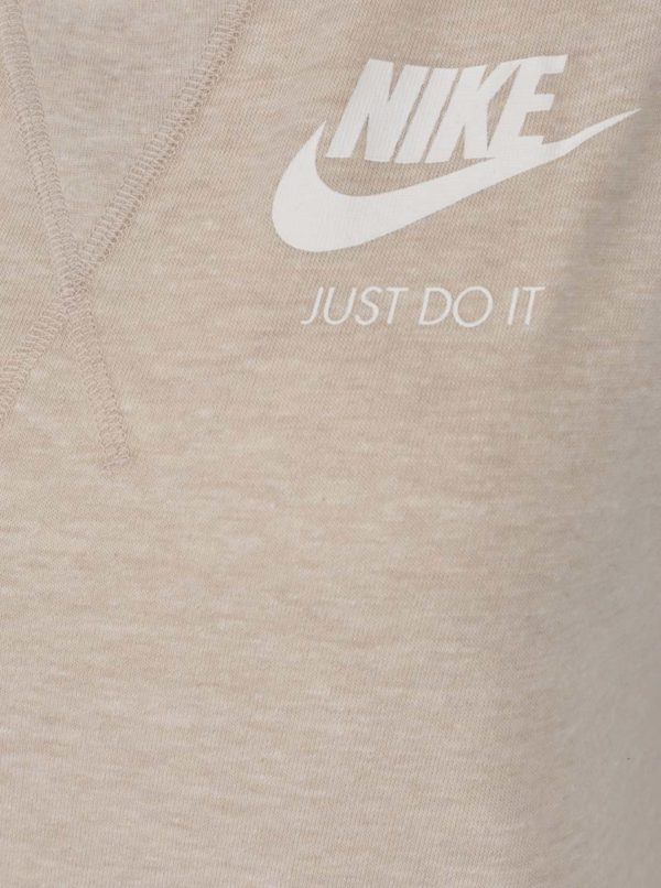 Béžové dámske športové šaty bez rukávov Nike