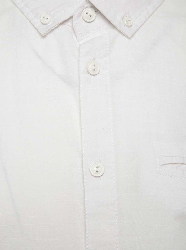 Biela košeľa s krátkym rukávom Blend